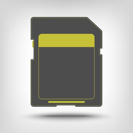 memory card: SD memory card icon as concept