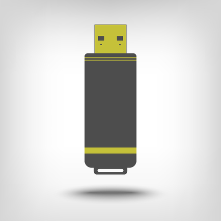 pocket pc: USB flash drive icon as a concept