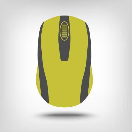 ratones: Icono del ratón del ordenador como concepto