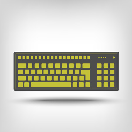 put the key: Keyboard icon as a concept