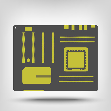pci: Computer motherboard icon as a concept