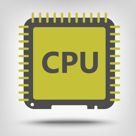 the unit: Central processor unit icon as a concept