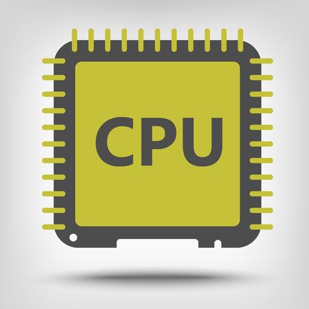 processor: Central processor unit icon as a concept