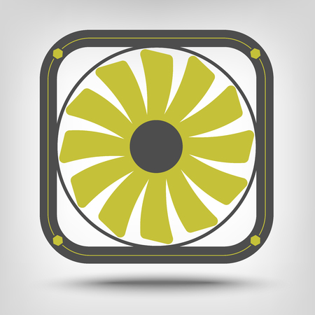 venting: Computer fan icon as a concept