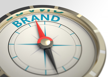 brands: Compass and an arrow pointing to the word brand