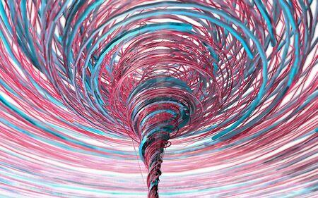 hypnotize: Color closeup spiral with bokeh as concept Stock Photo