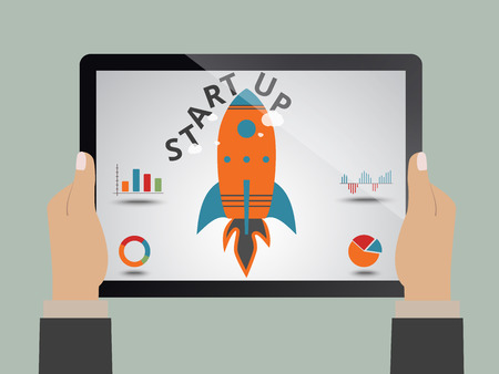 new business: Startup, launching new business as concept Illustration