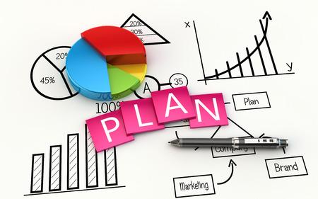 Finances et planification de la gestion comme un concept Banque d'images - 46509007
