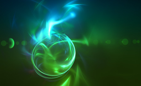 green swirl: Drop the green light effect. Abstract futuristic background for modern design
