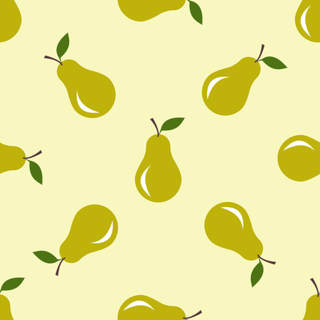apple paper bag: Seamless pattern with pears motive. Seamless pattern, can be used in textiles, for book design, website background.