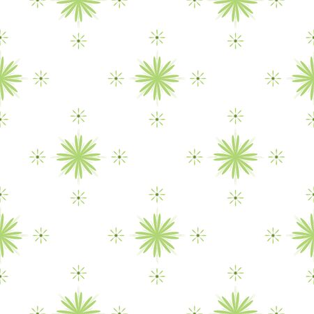 green cute: Seamless pattern with cute green flowers