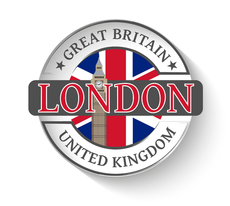 Sticker with the City of London and Big Ben