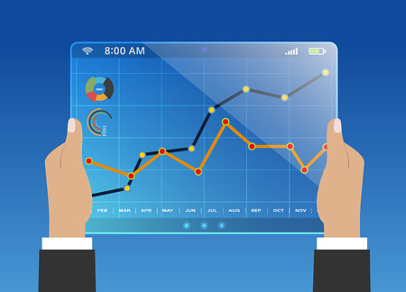 comparing: Comparing statistics in business,  infographics report charts