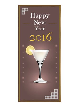 new years: Modern New Years party invitation card