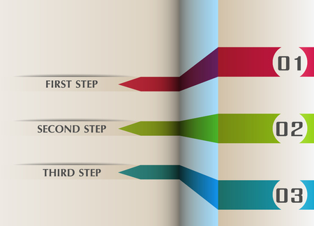 manual: Infographics in three steps for tutorial or manual.