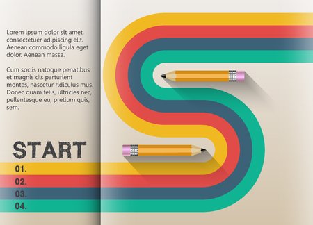 path to success: The path to success retro graphic design.  Stripes and lines in harmony.