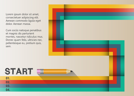 graphic design: The path to success retro graphic design.  Stripes and lines in harmony.