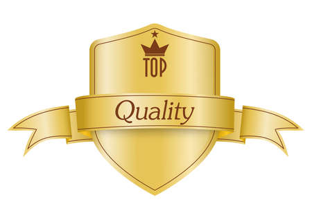 golden shield: Golden shield symbol of top quality product
