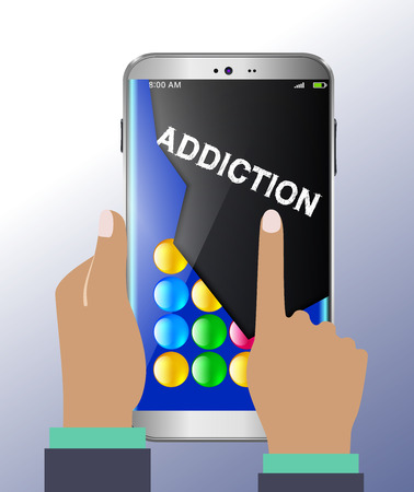 texting: Smart phone and warnings on addiction to gaming