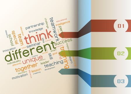 think: Vector infographic template - Think different as a concept