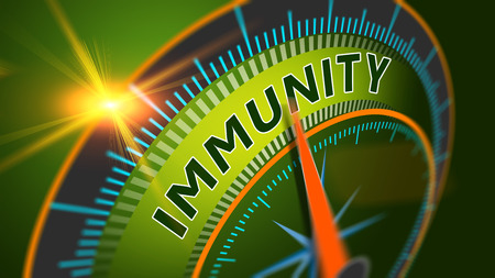 Immunity level position background. Immune system, healthy life concept. Standard-Bild