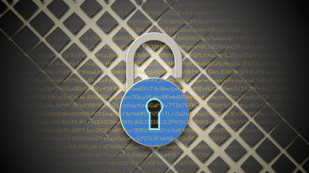 datos personales: concepto de seguridad de Internet. Candado abierto sobre fondo azul de datos digitales. Seguridad de protección de datos personales.
