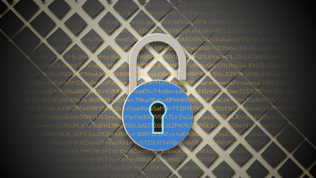 personal data: Internet security concept. Open blue padlock on digital data background. Safety of personal data protection.