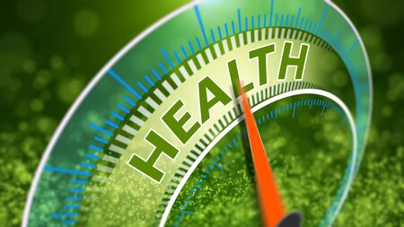 Healthy lifestyle abstract 3D Illustration. World health day concept. Stock Photo