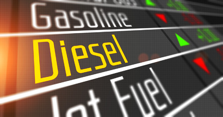 Prices for diesel and various commodities on the stock market.