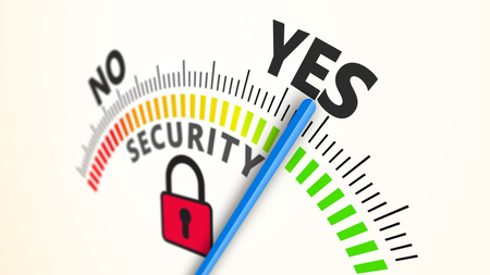 Security indicator internet 3D Illustration