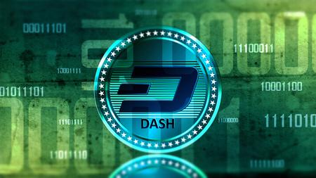 가상 cryptocurrency 디지털 사이버 공간에서 대시 동전 로그인 스톡 콘텐츠 - 91268558