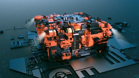 Przemysł 4.0, przyszła rewolucja przemysłowa Zdjęcie Seryjne