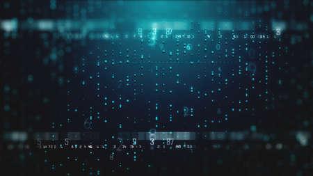 Digital crypto technology futuristic abstract development background Stockfoto