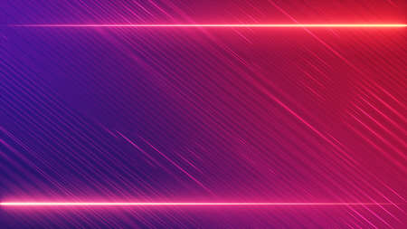 Christmas red pink gradient abstract neon lines frame background