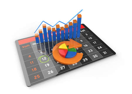 Economic statistics budget and banking charts of stock market on a modern digital tablet