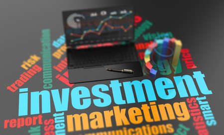 Financial report invest accounting, business planning, economic budget Stockfoto