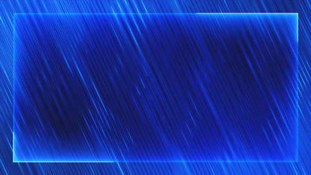 Christmas blue abstract neon lines frame background