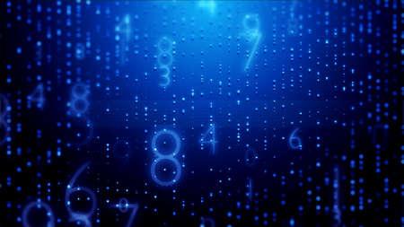 Futuristic development cyberspace with crypto digit code