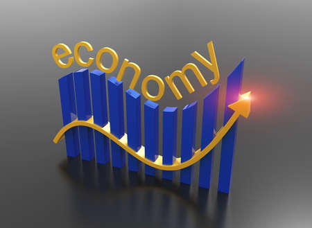 Finance and economy in a rising graph 3D