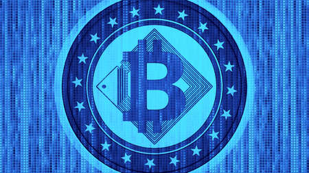 Bitcoin symbol cryptocurrency symbol in finance investment stock market