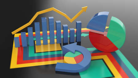 Financial report accounting, business planning, economic budget and taxes.