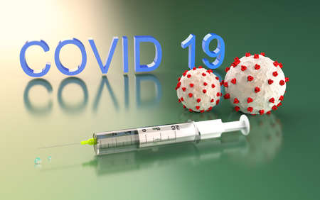 Covid-19 vaccine syringe for prevention,immunization and treatment from corona virus