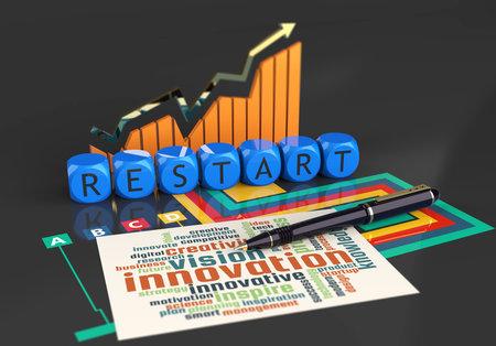 Restart business report financial planning vision concept
