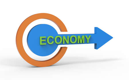Finance and economy direction 3D symbol