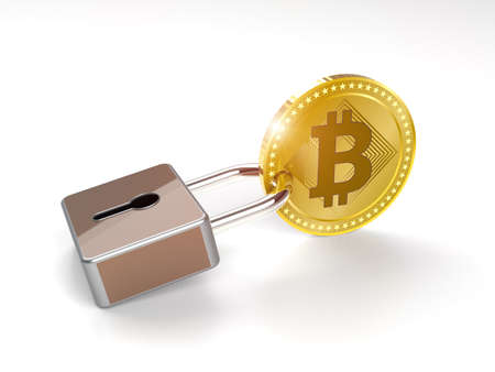Cryptocurrency Bitcoin hodlers idea background Stockfoto