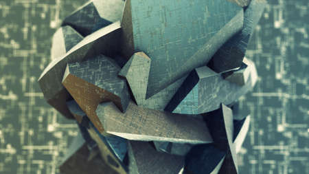Polygonal blockchain crypto data as a geometric shape cryptography structure Stockfoto