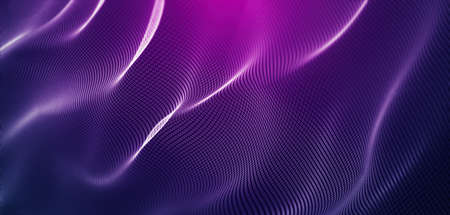 Dynamic abstract polygonal mesh wireframe waves wireframe background