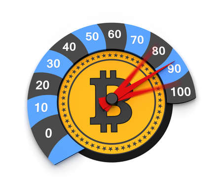 Bitcoin cryptocurrency of future as a symbol of finance Stockfoto