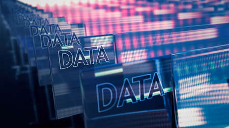 Big data security database information 3D. Cloud computing technology development abstract background. Stockfoto