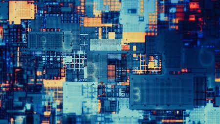 Futuristic visualization big data digit digital process. Data stream abstract technology background.